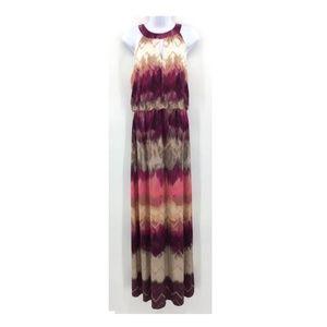 London Times Sleeveless Watercolor Dress Sz 10